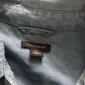 Ann Taylor tall lyocell denim color shirt L